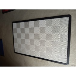 Tapis de sol dalles uni blanc 2m12 x 1m32