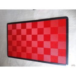 Tapis de sol dalles uni rouge 2m12 x 1m32