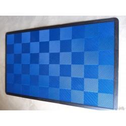 Tapis de sol dalles uni bleu 2m12 x 1m32