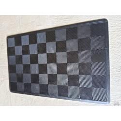 Tapis de sol dalles uni noir 2m12 x 1m32