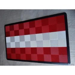 Tapis de sol dalles rouge bande blanche 2m12 x 1m32