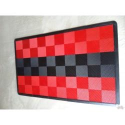 Tapis de sol dalles rouge bande noire 2m12 x 1m32