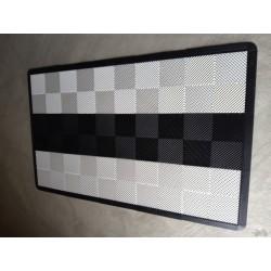 Tapis de sol dalles blanc bande noire 2m12 x 1m32