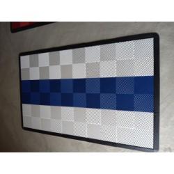 Tapis de sol dalles blanc bande bleue 2m12 x 1m32