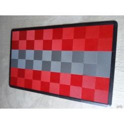 Tapis de sol dalles rouge bande grise clair 2m12 x 1m32