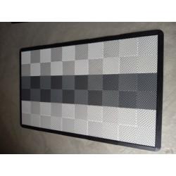 Tapis de sol dalles blanc bande grise clair 2m12 x 1m32
