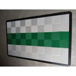 Tapis de sol dalles blanc bande verte 2m12 x 1m32