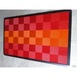 Tapis de sol dalles rouge bande orange 2m12 x 1m32
