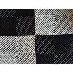 Tapis de sol dalles drapeau à damier noir et blanc 2m12 x 1m32