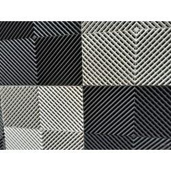 Tapis de sol dalles drapeau à damier gris anthracite et blanc 2m12 x 1m32