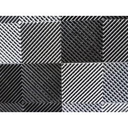 Tapis de sol dalles drapeau à damier noir et gris anthracite 2m12 x 1m32