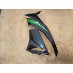 Flan de carénage gauche noir et vert de ZX6R 2009 à 2012