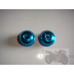 Embouts de guidon anodisé bleu