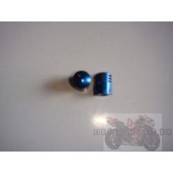 Bouchons de valve anodisés bleu